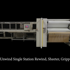 6 Station Unwind, Single Station Rewind, Sheeter, Gripper Stacker with Dual Sided Access